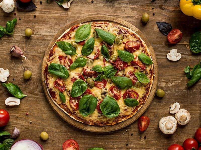 Pizza com base de claras