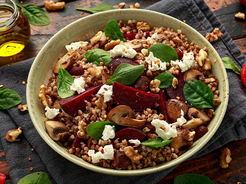 Salada Vegan de Trigo Sarraceno